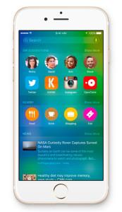 iPhone iOS 9画面