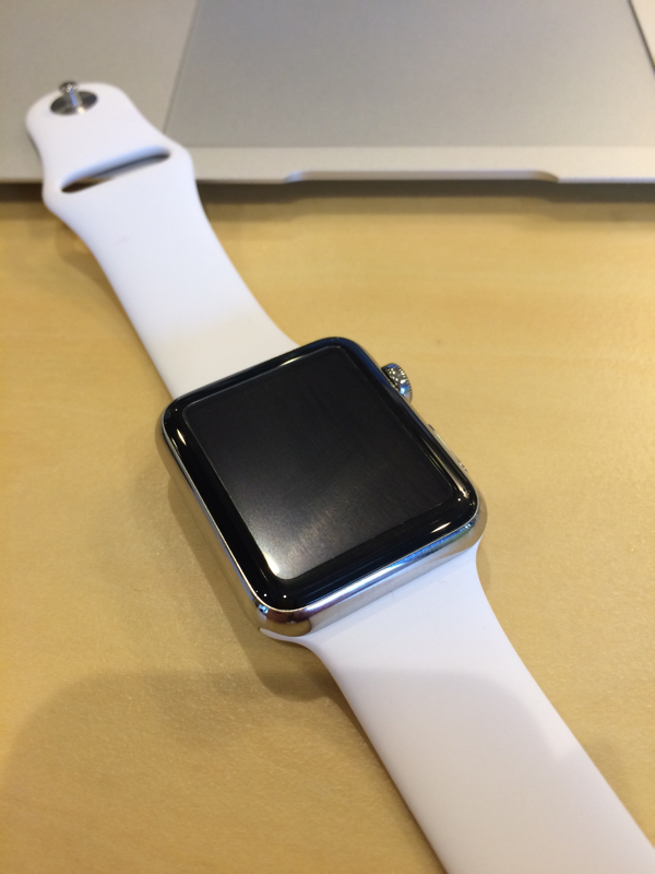 AppleWatch保護フィルム装着