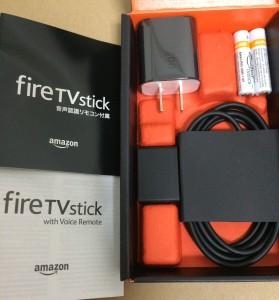 fire tv stick 同梱物