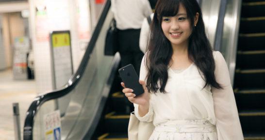 iPhone Suicaで改札を通る