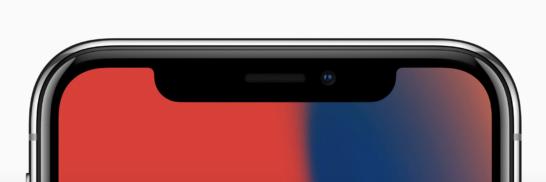 iPhone Xのノッチ部分