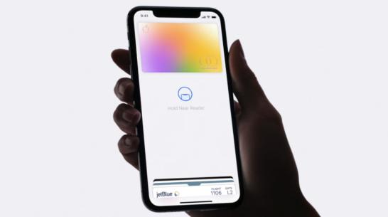 apple card face idでの支払いイメージ