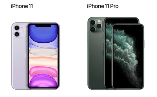 iPhone 11とiPhone 11 Pro , Pro Maxのイメージ